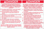 FL-547: Flammable liquid instructions to reduce risks. For Canada. Pack of 100.