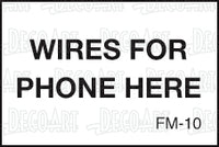 FM-10: Wires for phone here. Pack of 100.