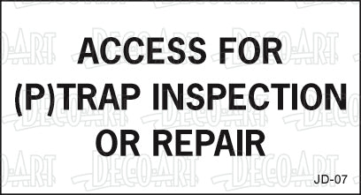 JD-07: Access for p-trap. Pack of 100.