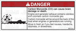 MR7001: Carbon monoxide warning with graphic, back of boat. Pack of 50.