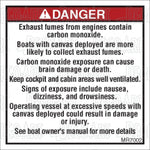 MR7002: Carbon monoxide warning, canvas. Pack of 50.