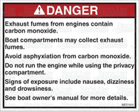 MR7003: Carbon monoxide warning, compartments. Pack of 50.