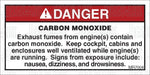 MR7004: Carbon monoxide warning, enclosures. Pack of 50.