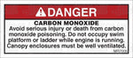MR7005: Carbon monoxide warning, swim platform. Pack of 50.