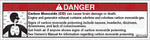 MR7006: Carbon monoxide warning with graphic. Pack of 50.
