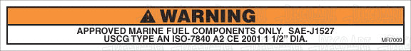 MR7009: Approved marine fuel components only. Pack of 50.