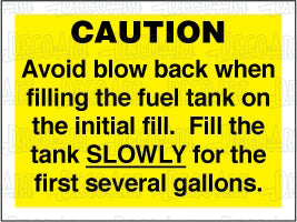 MR7011: Avoid blow back when filling the fuel tank. Pack of 50.