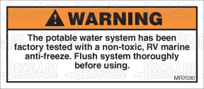 MR7030: Flush potable water system before use. Pack of 50.