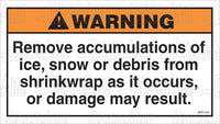 MR7042: Remove ice, snow or debris from shrinkwrap. Pack of 50.