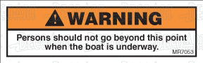 MR7053: Do not go beyond this point while underway. Pack of 50.