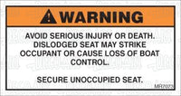 MR7073: Secure unoccupied seat. Pack of 50.