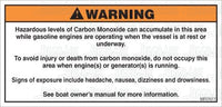 MR7077: Carbon monoxide warning. Do not occupy this area. Pack of 50.