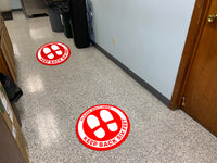 Red Floor Graphics - Pack of Five Graphics for $25.00