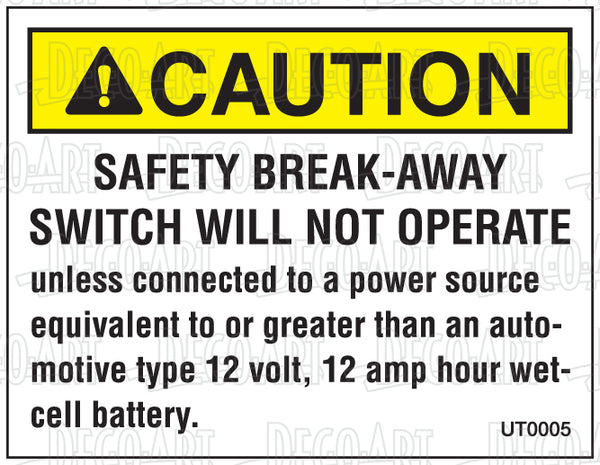 UT0005: Safety break away switch. Pack of 100.
