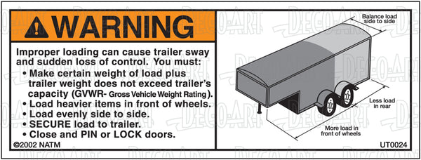 UT0024: Wrong loading for gooseneck trailer. Pack of 100.