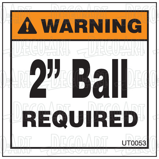 "UT0053: 2"" Ball required. Pack of 100."