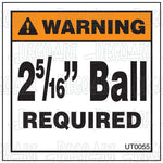 "UT0055: 2 5/16"" Ball required. Pack of 100."