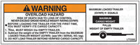 UT0066: Overload hazard with graphic. Pack of 100.