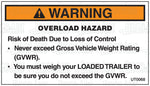 UT0068: Overload hazard. Pack of 100.