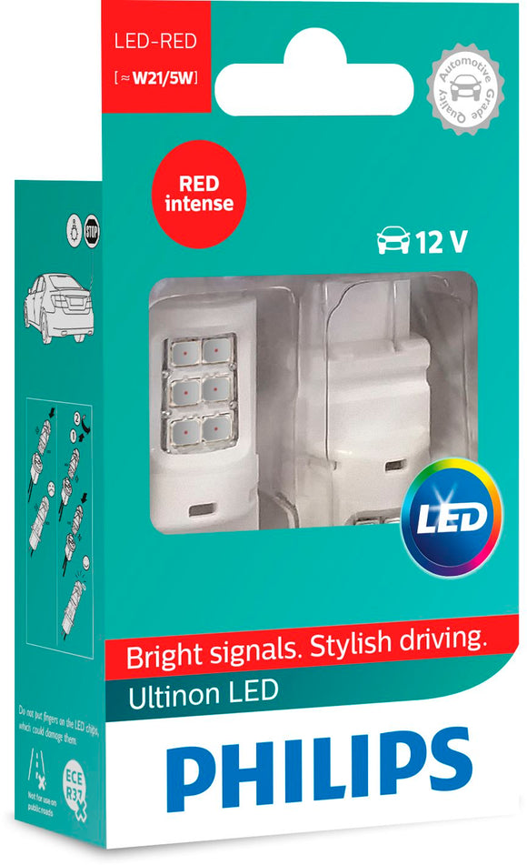 Ultinon W21/5 Led Red 12V X2 11066ULRX2