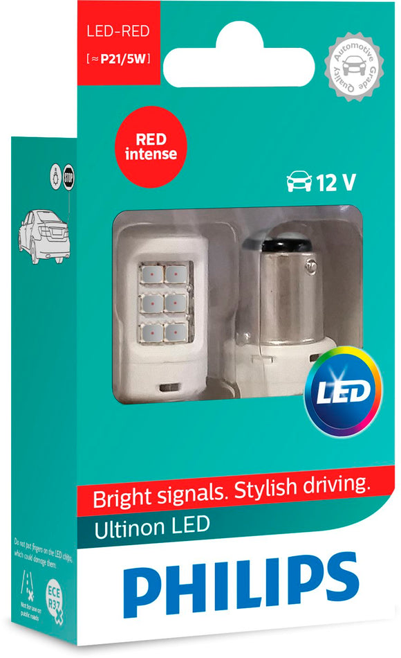 Ultinon P21/5 Led Red 12V X2 11499ULRX2