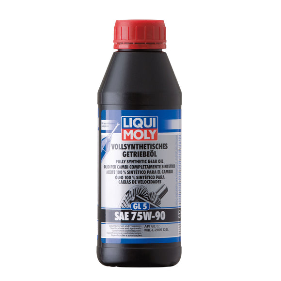 Liqui Moly Fully Synthetic Gear Oil (GL5) SAE 75W-90 500ml