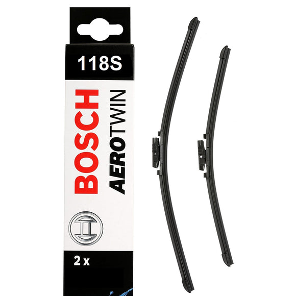 Bosch Front Windscreen Wiper Blades Aerotwin 600mm+400mm A118S