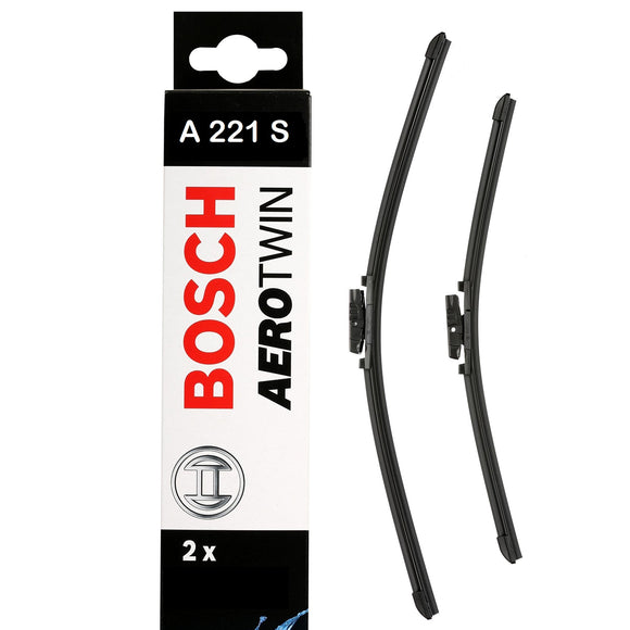 Bosch Front Windscreen Wiper Blades Aerotwin 700mm+550mm A221S