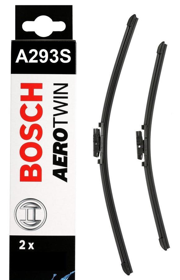 Bosch Front Windscreen Wiper Blades Aerotwin 600mm+380mm A293S