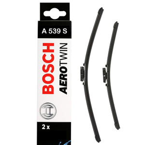 Bosch Front Windscreen Wiper Blades Aerotwin 650mm+400mm A539S