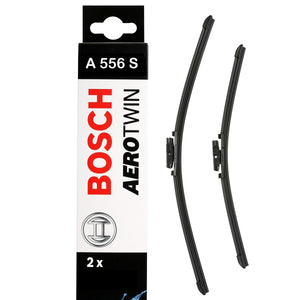 Bosch Front Windscreen Wiper Blades Aerotwin Set 600mm+400mm A556S
