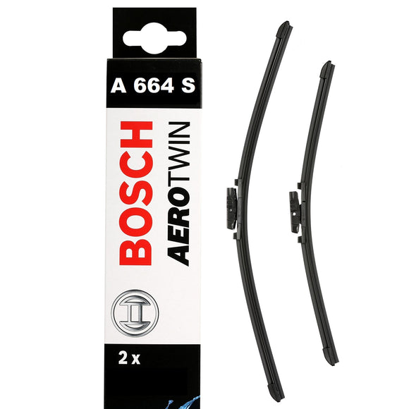 Bosch Front Windscreen Wiper Blades Aerotwin 750mm+650mm A664S