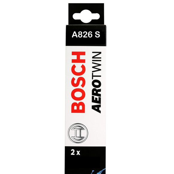 Bosch Front Windscreen Wiper Blades Aerotwin 600mm+600mm A826S