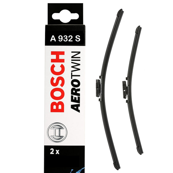 Bosch Front Windscreen Wiper Blades Aerotwin 550mm+450mm A932S