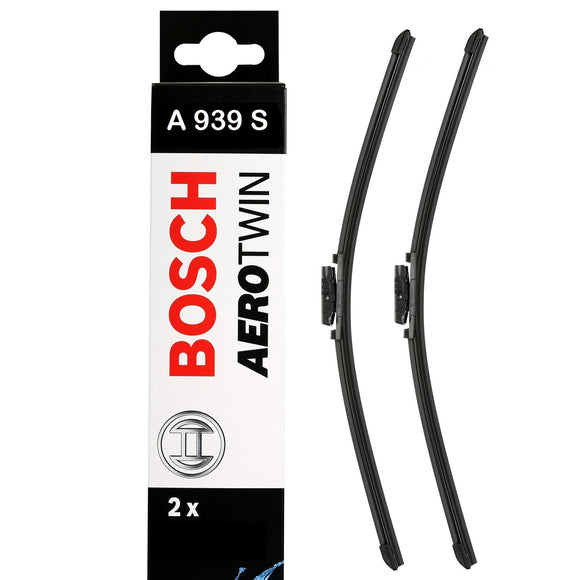 Bosch Front Windscreen Wiper Blades Aerotwin 600mm+600mm A939S