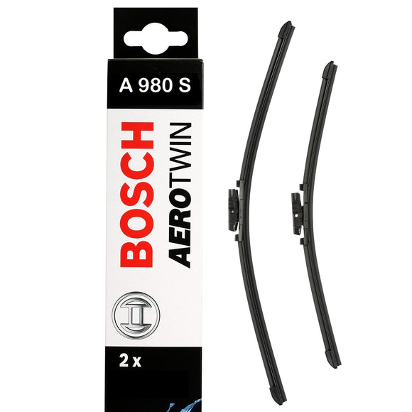 Bosch Front Windscreen Wiper Blades Aerotwin 600mm+475mm A980S