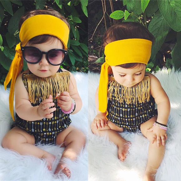 Hippie Golden Bathing Suit