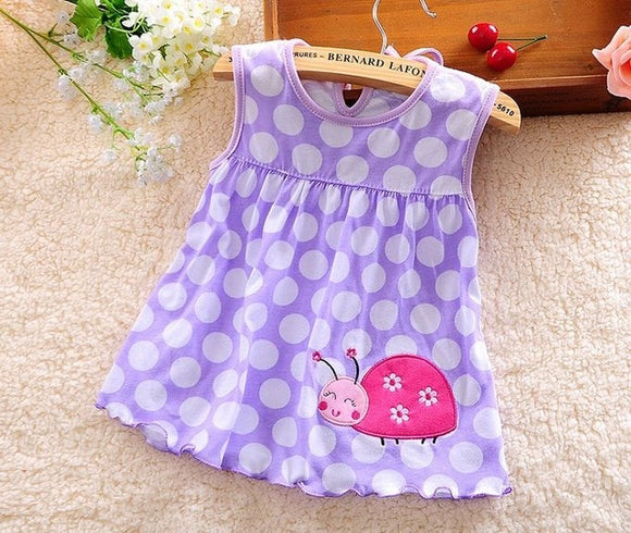 Lady Bug Purple Dress