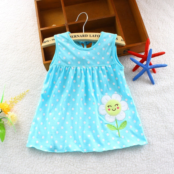 Baby Blue Sun Flower Dress