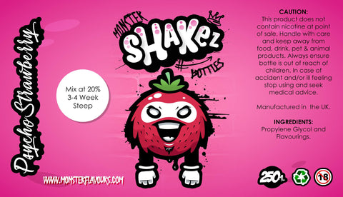 Monster Shakez Psycho Strawberry One Shot Concentrate