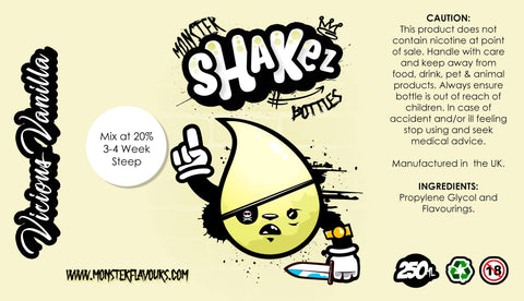 Monster Shakez Vicious Vanilla One Shot Concentrate
