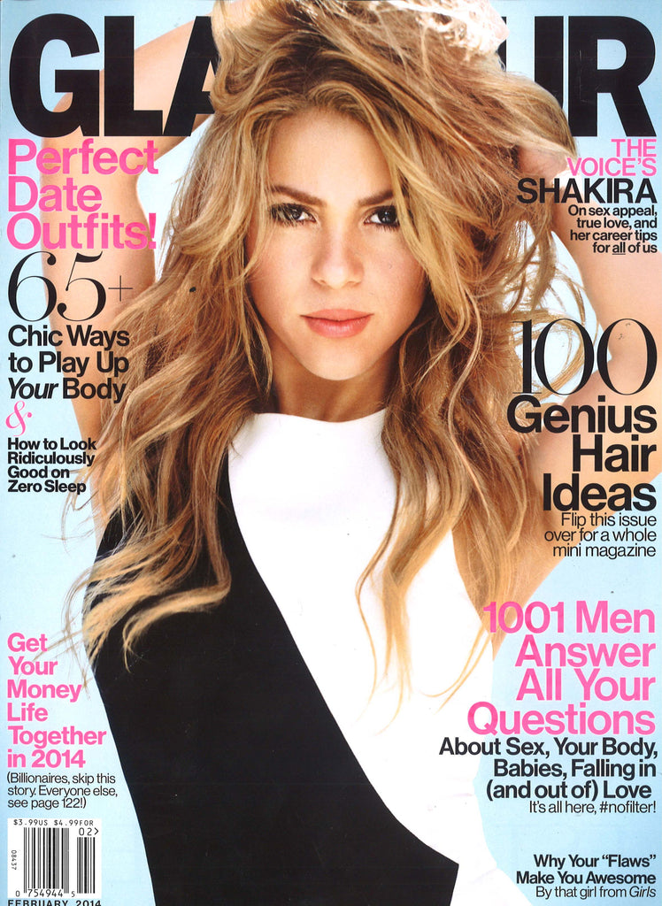 glamour magazine cover with shakira