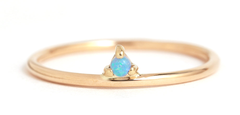 Opal One Step Ring - Melissa Joy Manning Jewelry