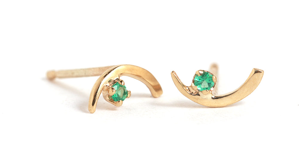 Emerald Arc Lineage Earrings - Melissa Joy Manning Jewelry