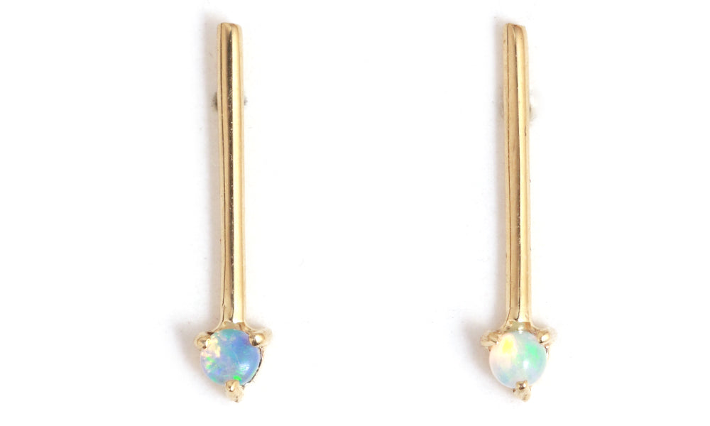 Opal One Step Bar Earrings - Melissa Joy Manning Jewelry