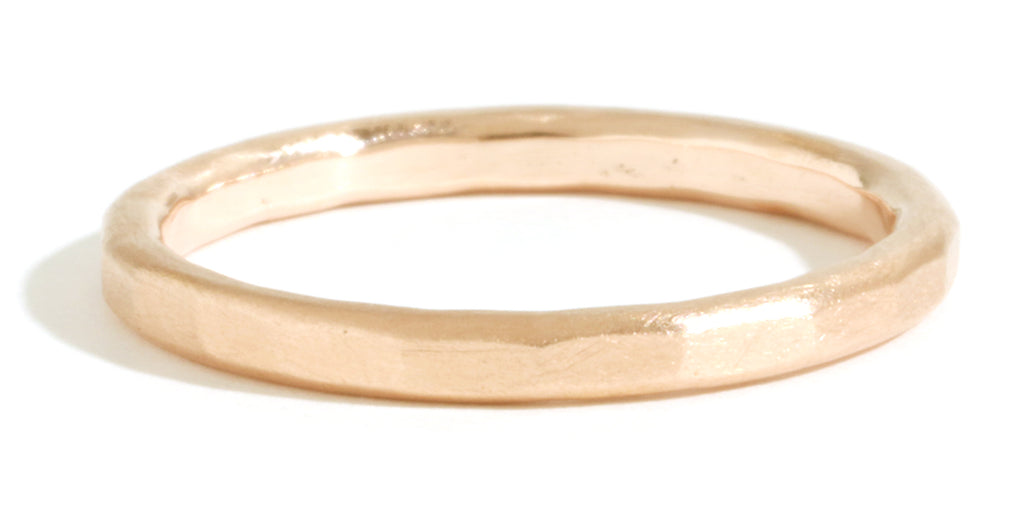 Hammered Texture 2mm Band - Yellow Gold - Melissa Joy Manning Jewelry