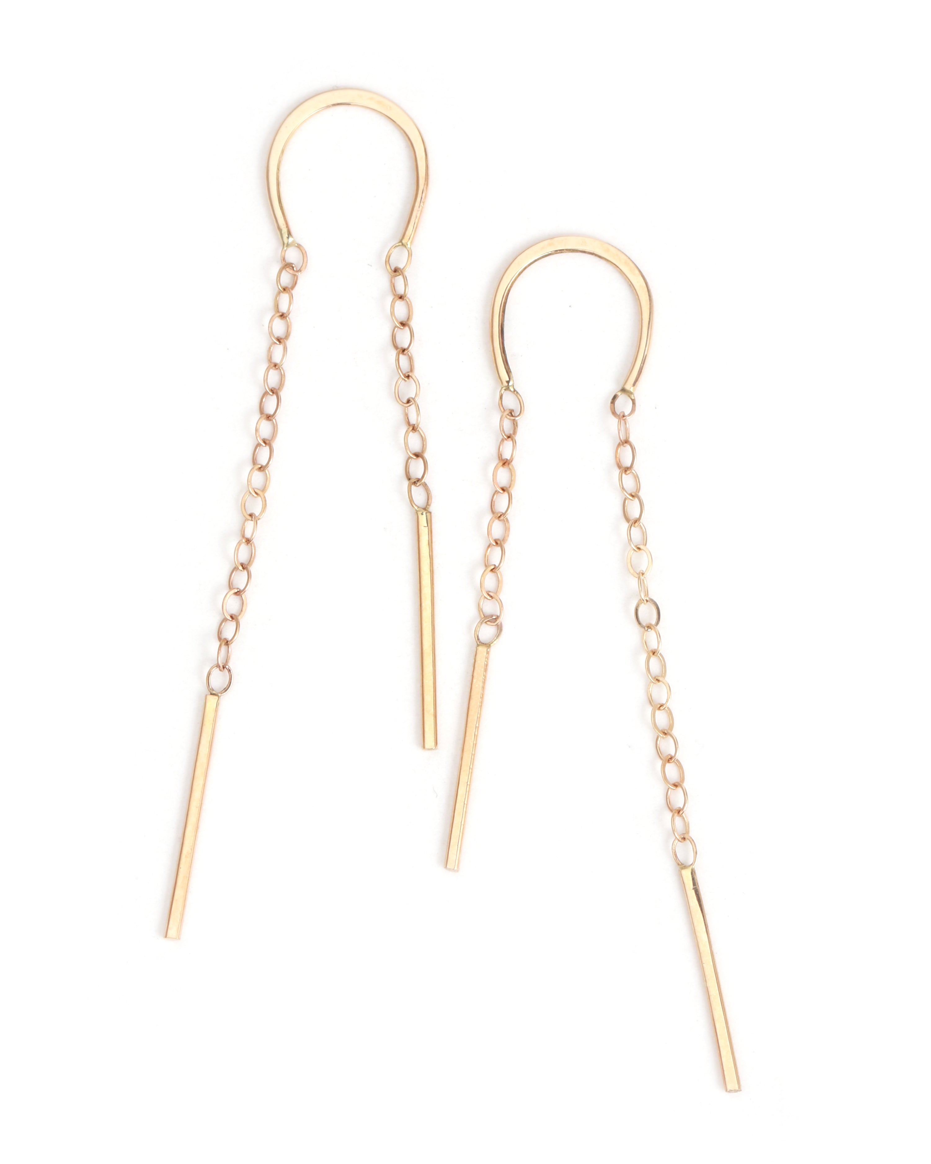 Horseshoe chain earrings - Melissa Joy Manning Jewelry