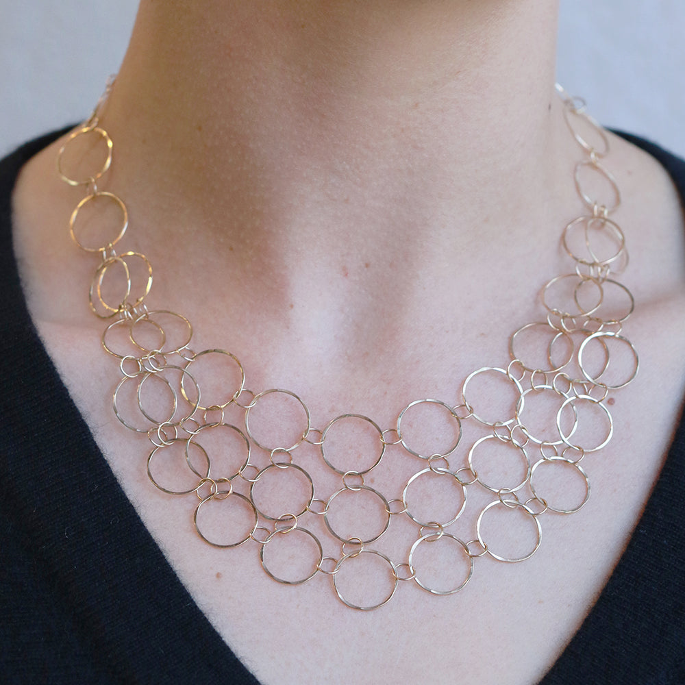 Handmade Chainmail Collar Necklace - Melissa Joy Manning Jewelry
