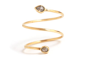 Sprial ring with rosecut diamonds - Melissa Joy Manning Jewelry