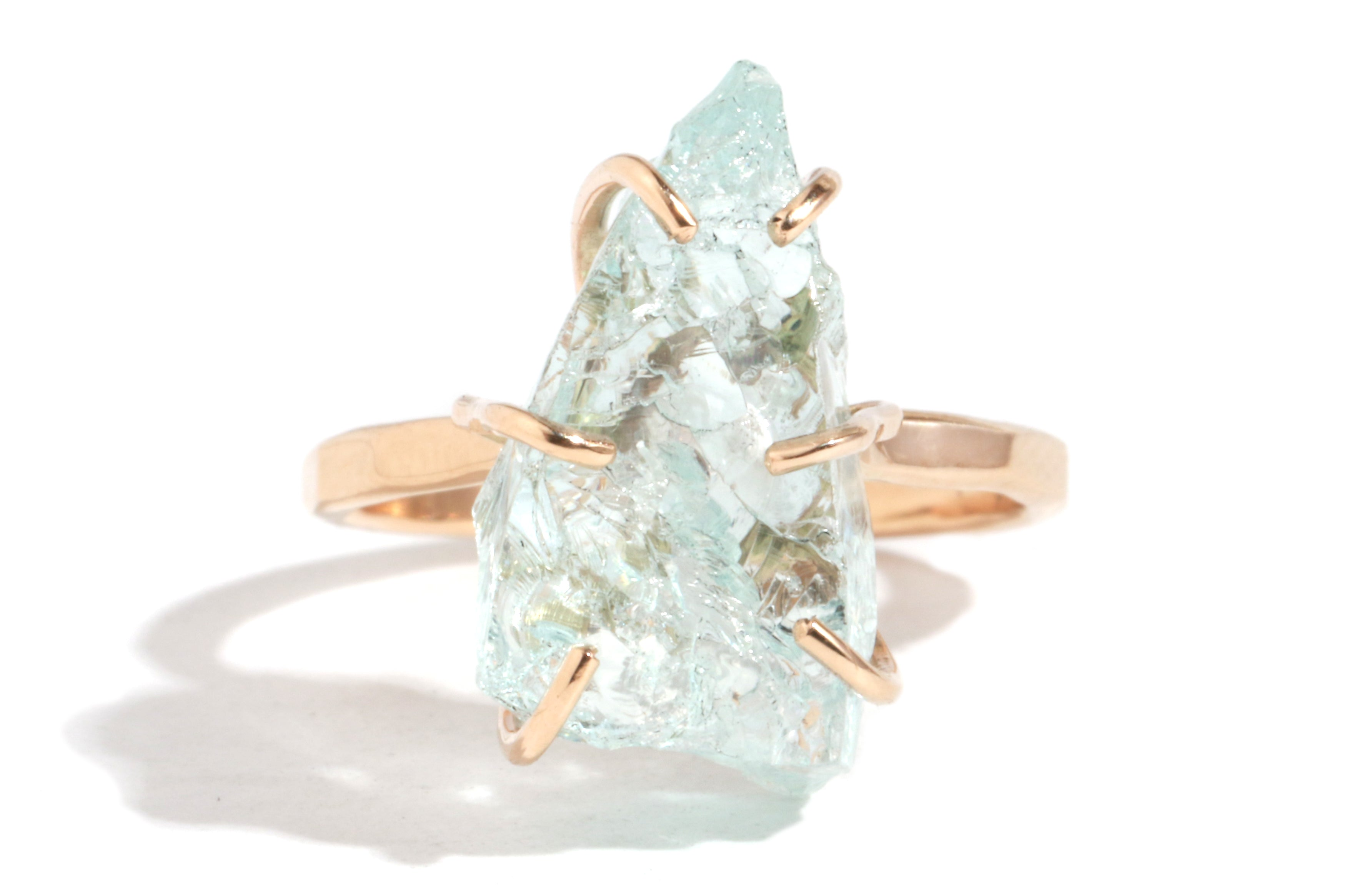 Raw Aquamarine Ring - Melissa Joy Manning Jewelry